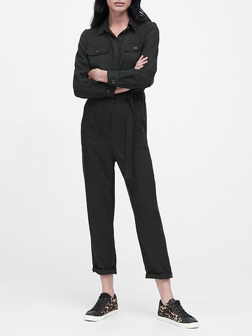 TENCEL Flight Jumpsuit in Black