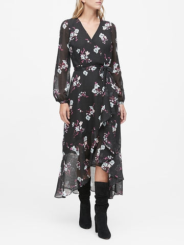 Floral Ruffle Maxi Dress in Floral
