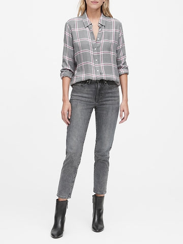 Dillon Classic-Fit Flannel Shirt in Gray
