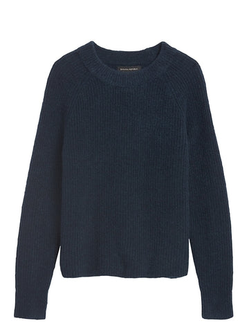 Aire Cropped Sweater in Navy