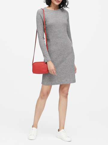 Luxespun Raglan T-Shirt Dress in Heather Charcoal Gray