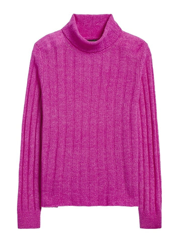 Aire Turtleneck Sweater in Bright Magenta