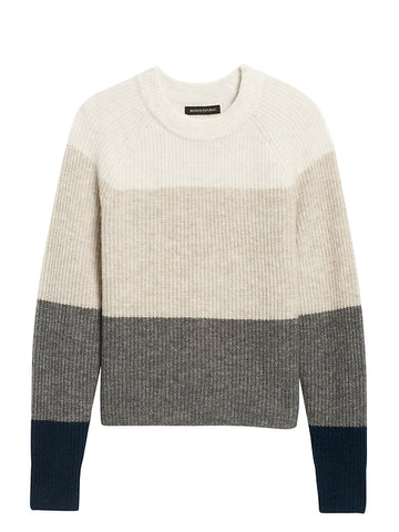 Aire Color-Blocked Sweater in Multi Grey