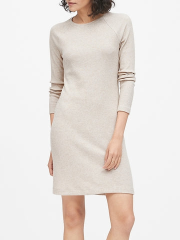 Luxespun Raglan T-Shirt Dress in Oatmeal