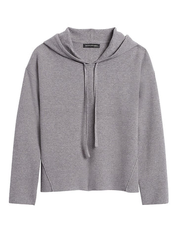 Sweater Hoodie in Heather Gray