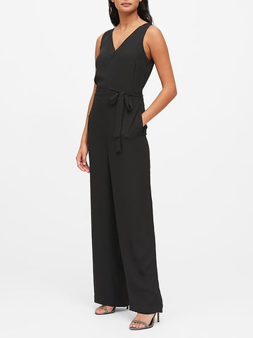 Wide-Leg Jumpsuit in Black