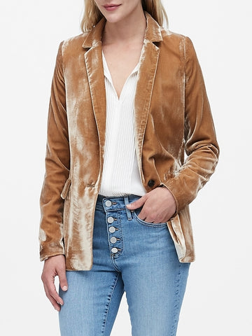 Velvet Soft Blazer in Toasted Marshmallow
