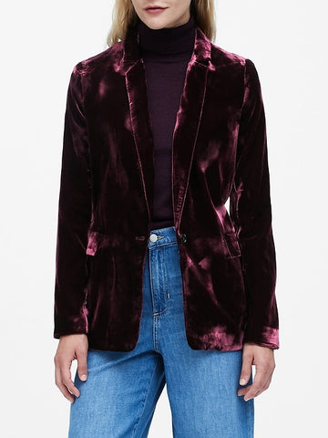 Velvet Soft Blazer in Sour Cherry Red