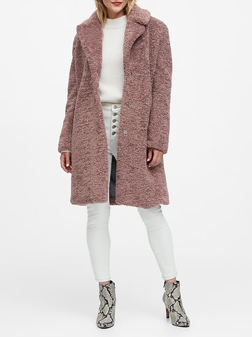 Sherpa Car Coat in Mauve
