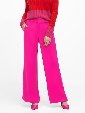 High-Rise Wide-Leg Pant in Hot Pink