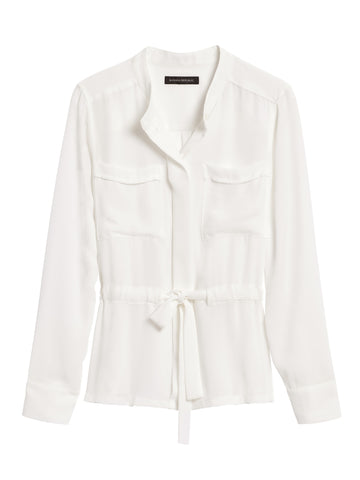 Utility Blouse in White