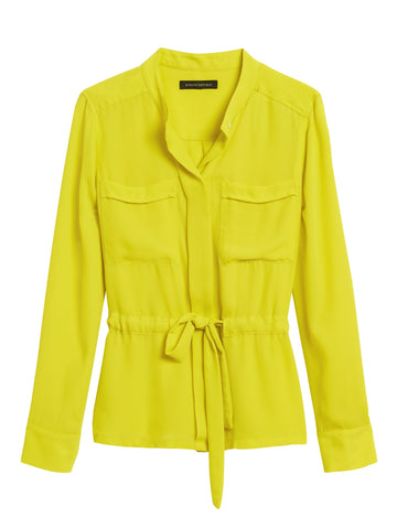 Utility Blouse in Lively Chartreuse