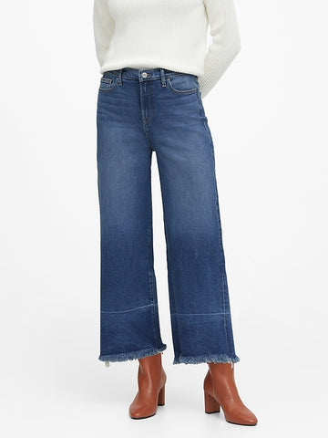 High-Rise Wide-Leg Cropped Jean in Light Wash