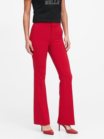 High-Rise Flare Pant in Ultra Red