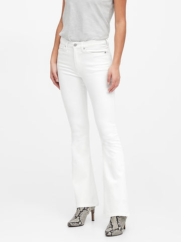 High-Rise Flare Jean in White