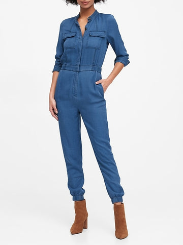 TENCEL Flight Jumpsuit in Indigo