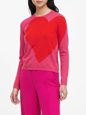 Big Heart Sweater in Pink