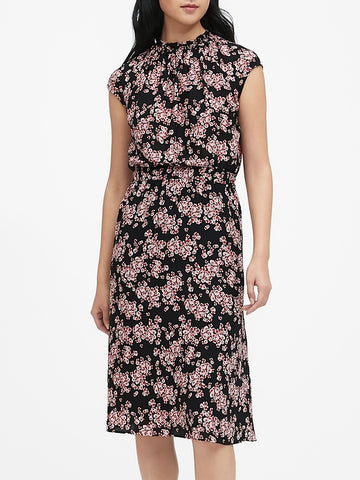 Floral Midi Dress in Orchid Petal