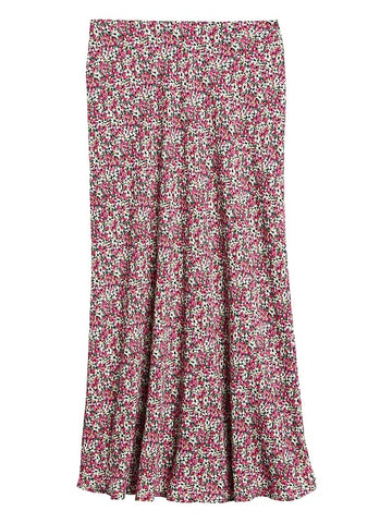Print Slip Skirt in Pink Ditsy Floral