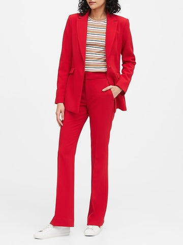 Sculpted-Fit Blazer in Ultra Red