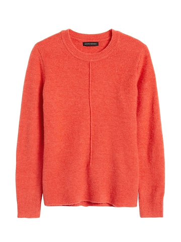 Merino-Blend Boxy Sweater in Orange