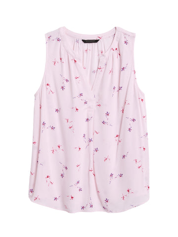 EcoVero Sleeveless Top in Pink Floral
