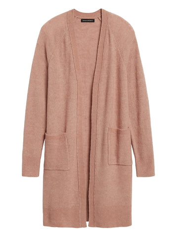Aire Duster Cardigan Sweater in Sand Beige