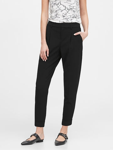 High-Rise Tapered Pant in Black