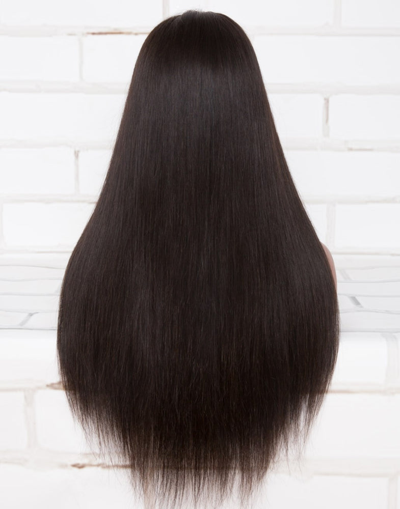 KRYSTAL - 180% DENSITY STRAIGHT HUMAN HAIR LACE FRONT WIGS - LFH005