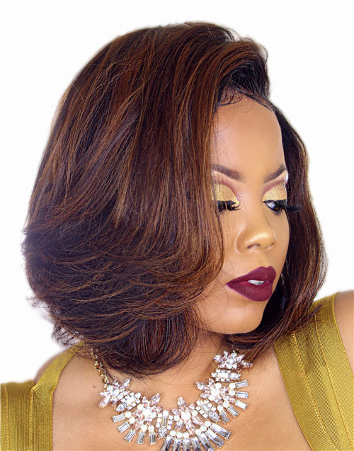KAY - HIGHLIGHT BOB SHORT LACE FRONT WIG - LFW027