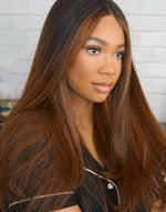 VIVIAN - MALAYSIAN HUMAN HAIR OMBRE LACE FRONT WIG - LFW017