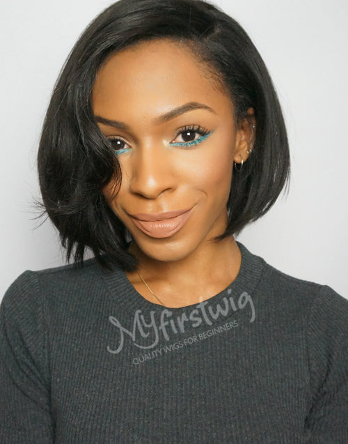 VICTORIA - MALAYSIAN HAIR SHORT BOB LACE FRONT WIG - LFW001