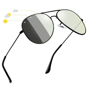 Joopin Classic Sunglasses for Women MenMetal_Frame_Mirrored_Lens_Designer_Polarized_Sun_glasses_UV400_gray