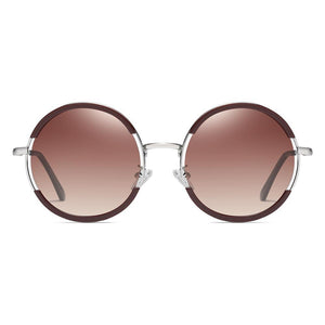 sunglasses with Jam red lenses and frames with silver nose bridge