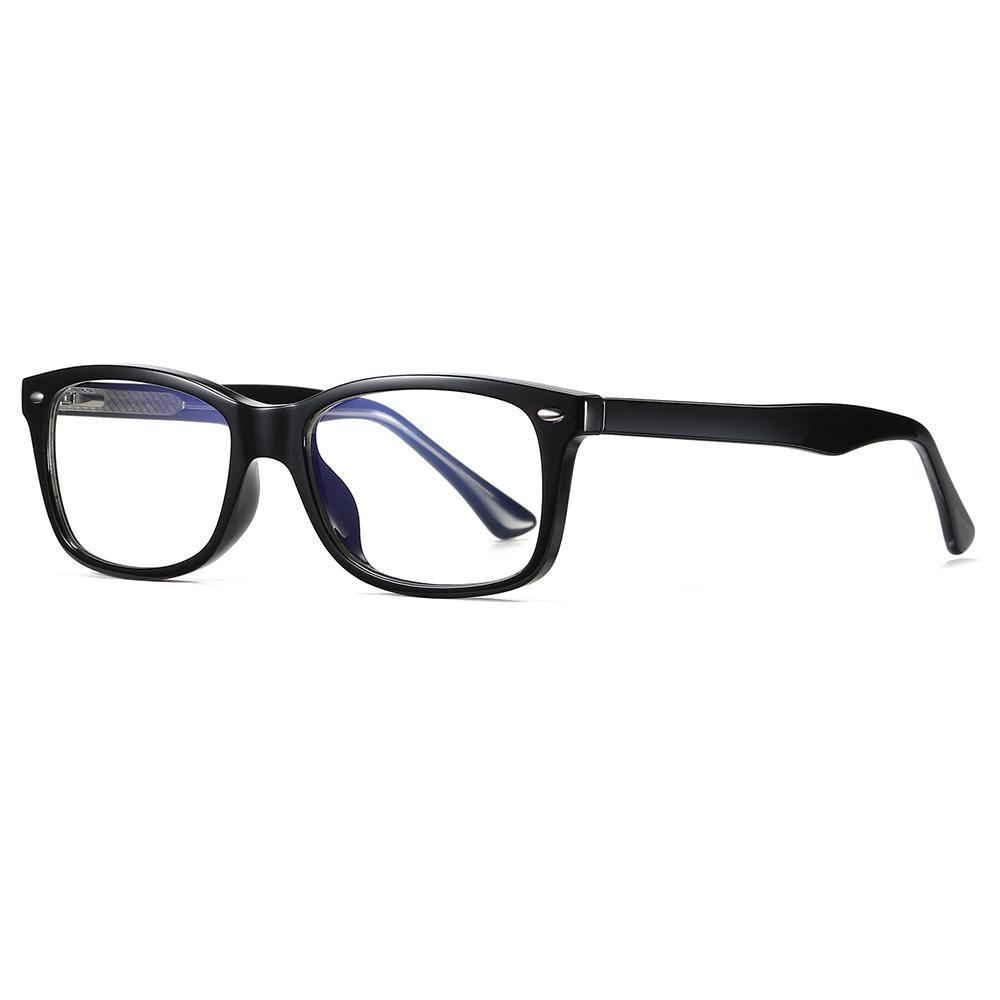 rectangle eyeglasses with thick temple arms