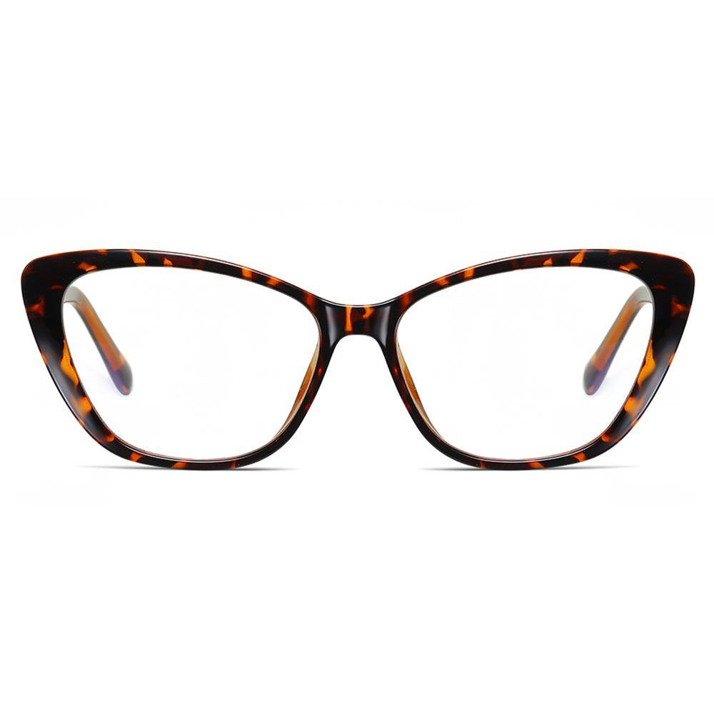bright tortoise color glasses  frames in cat eye shaped