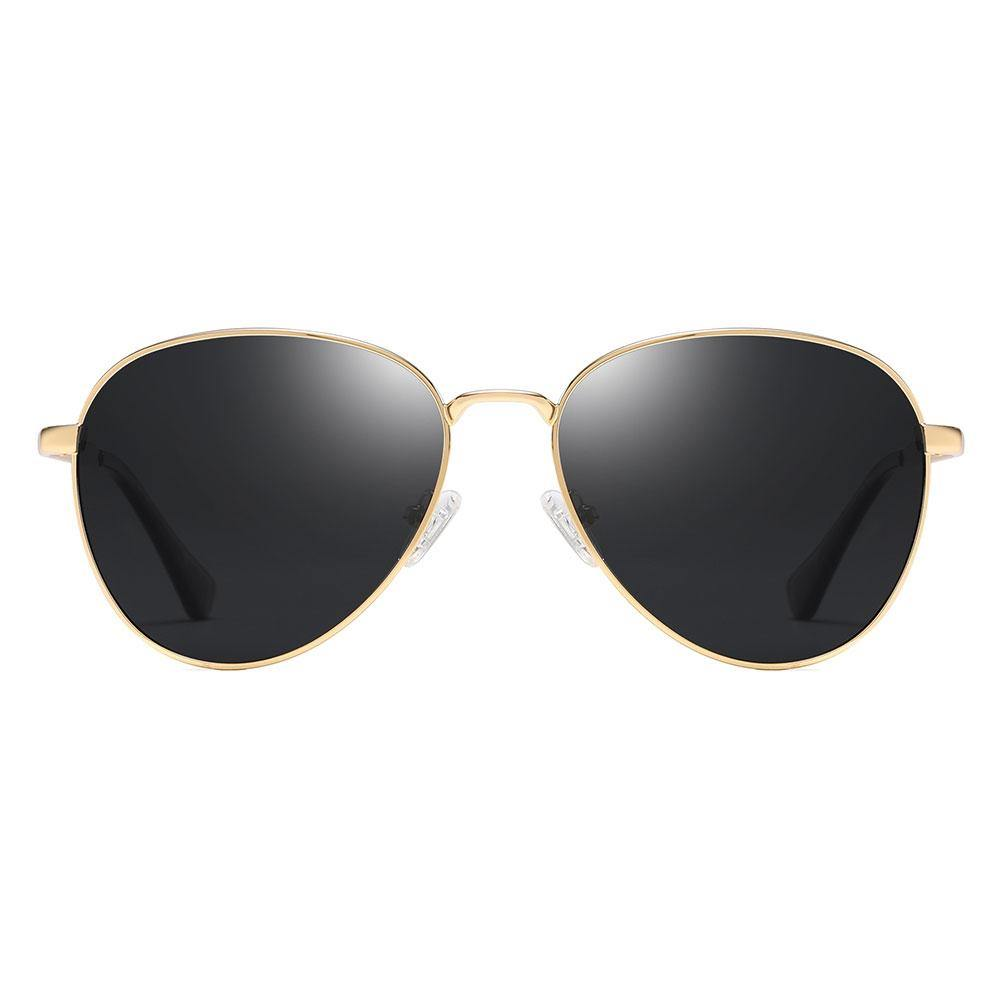 Gold aviator sunglasses with gold trimmed