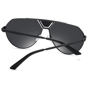 back view of temple arms for black prescription sunglasses
