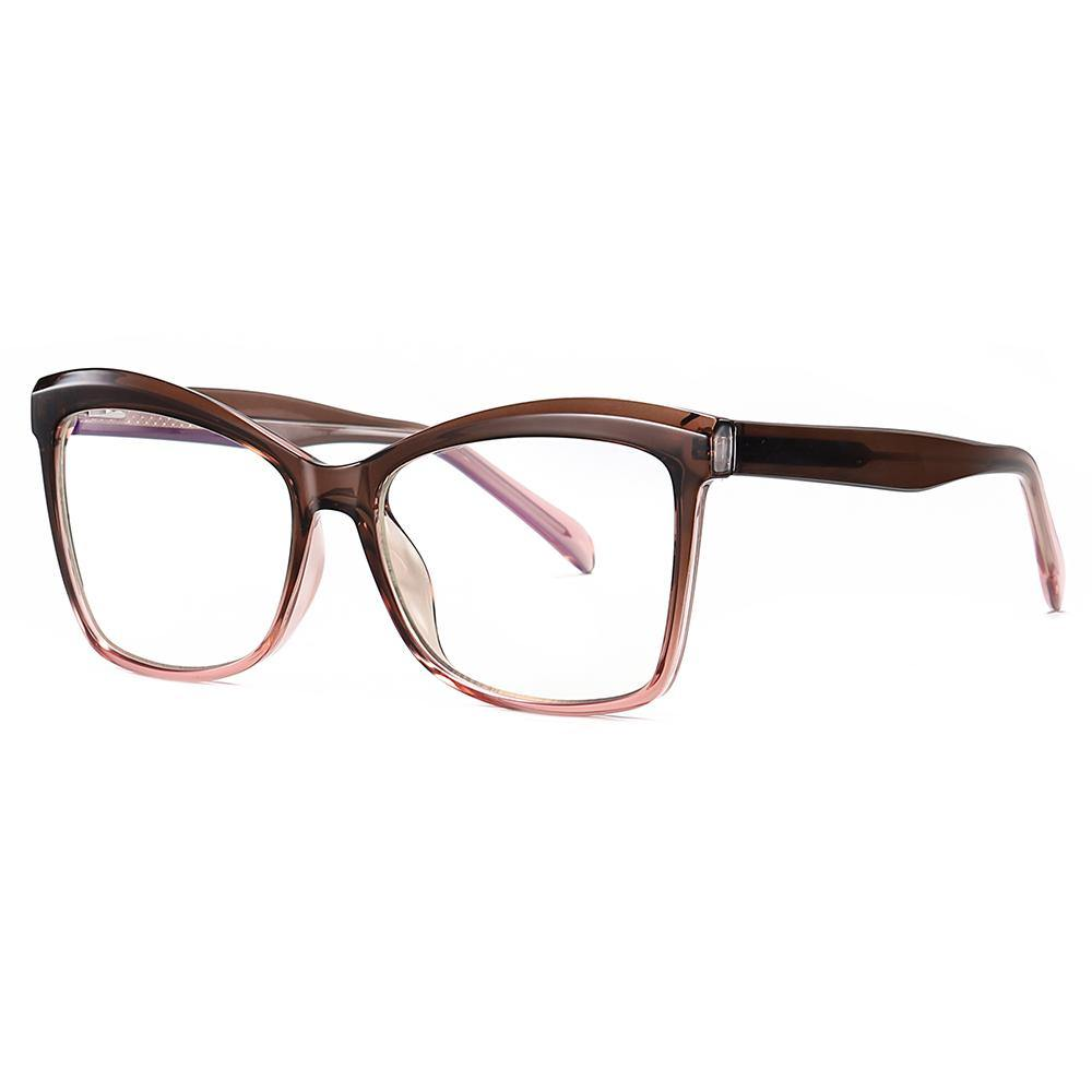 big square eyeglasses with thick temple arms