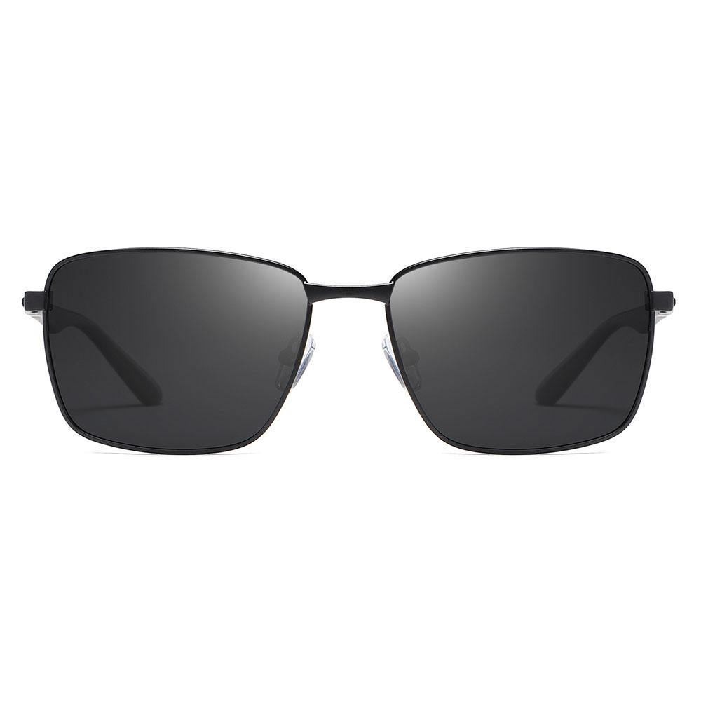 Black rectangular sunglasses for men