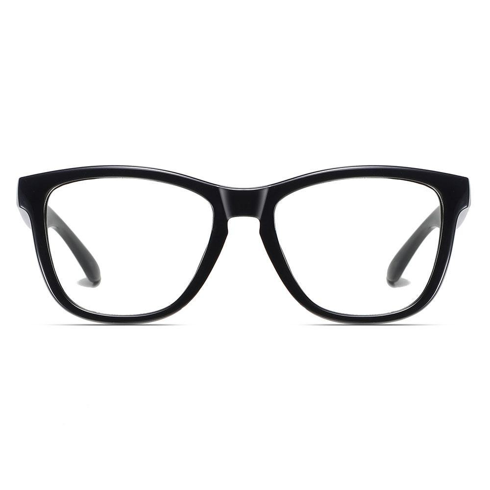 black square round eyeglasses for men women