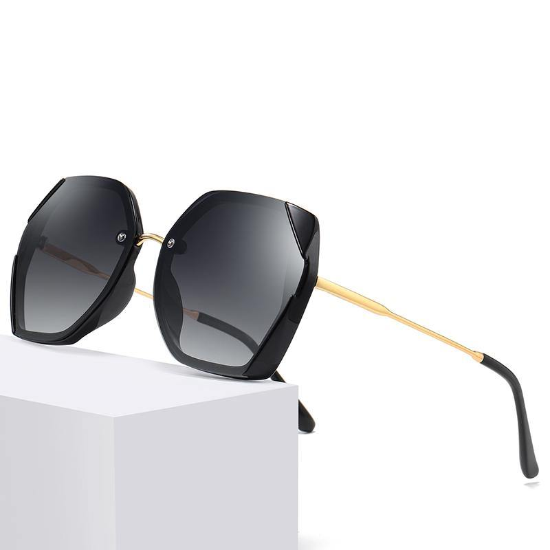 black shades gold temples