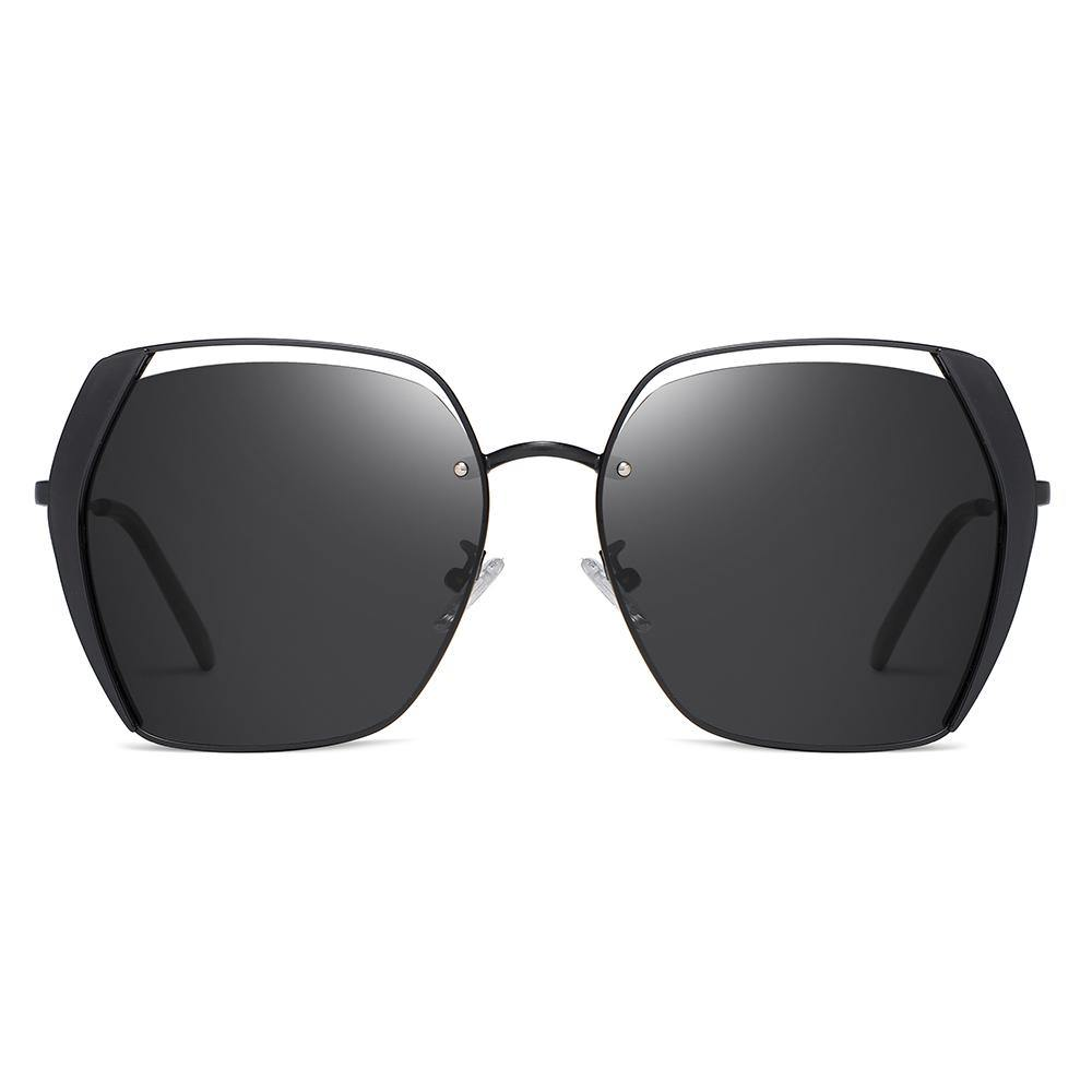 Full Black Sunglasses for Men and Women in square shape