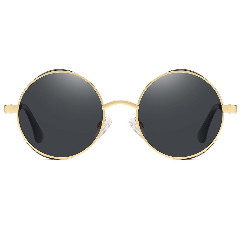 John lennon round sunshades with black lens and gold rimmed