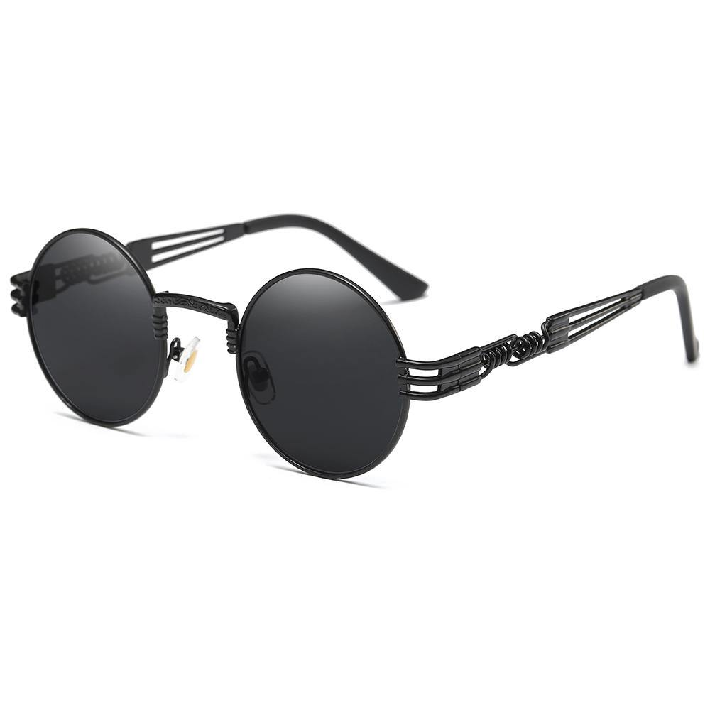 black tinted lens and frames, equisite spring screw legs design, thin lens rim