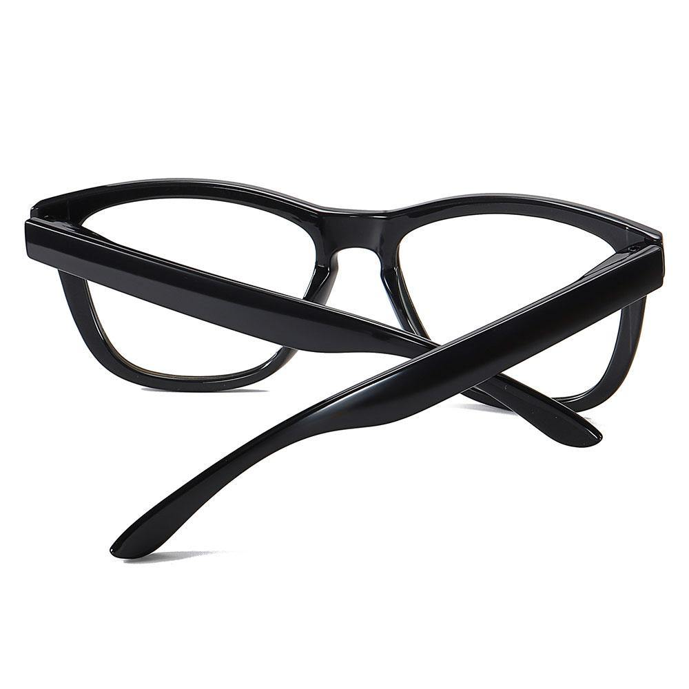Thick temple arms for the square round eyeglasses