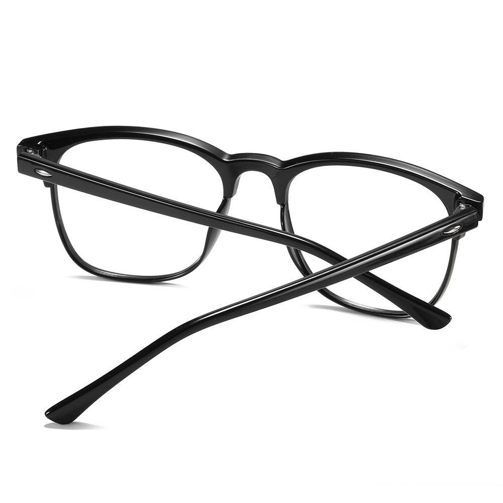 Black temple arms for the square eyeglasses