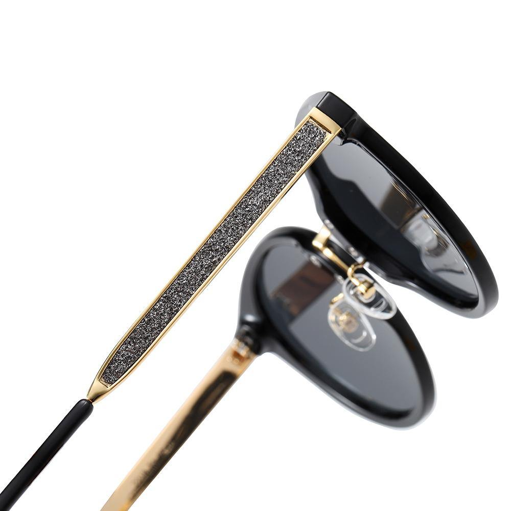 gold temples with black frames
