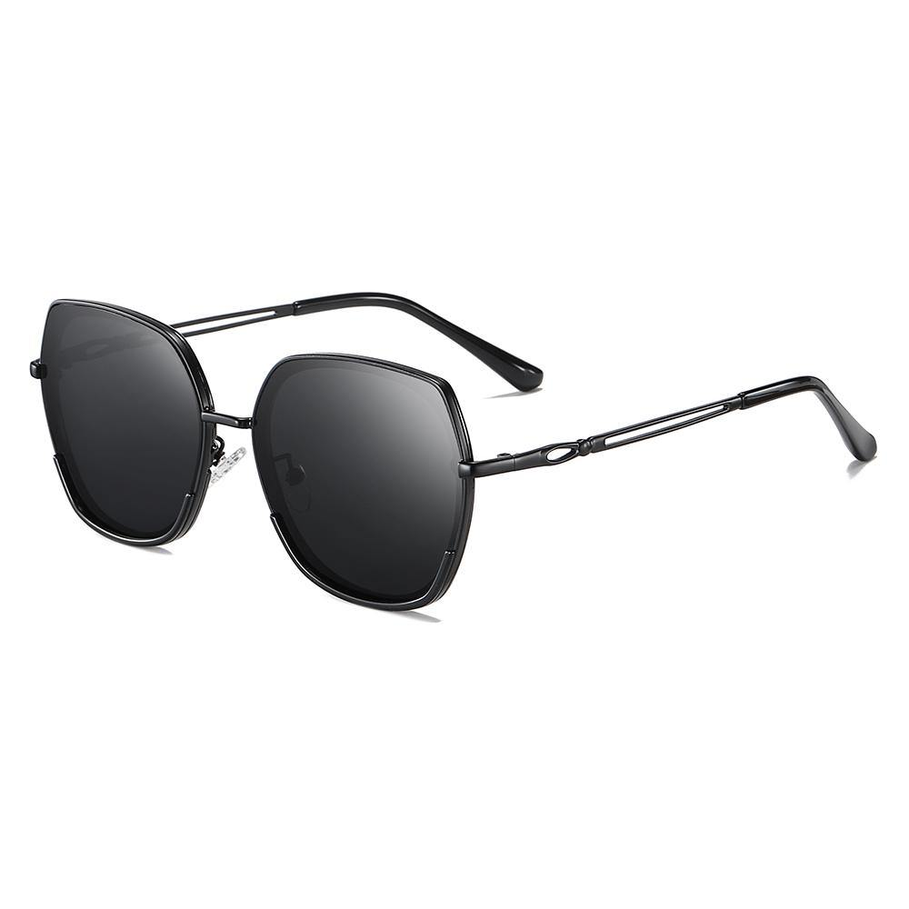 Black Square sunglasses full metal frame for men women