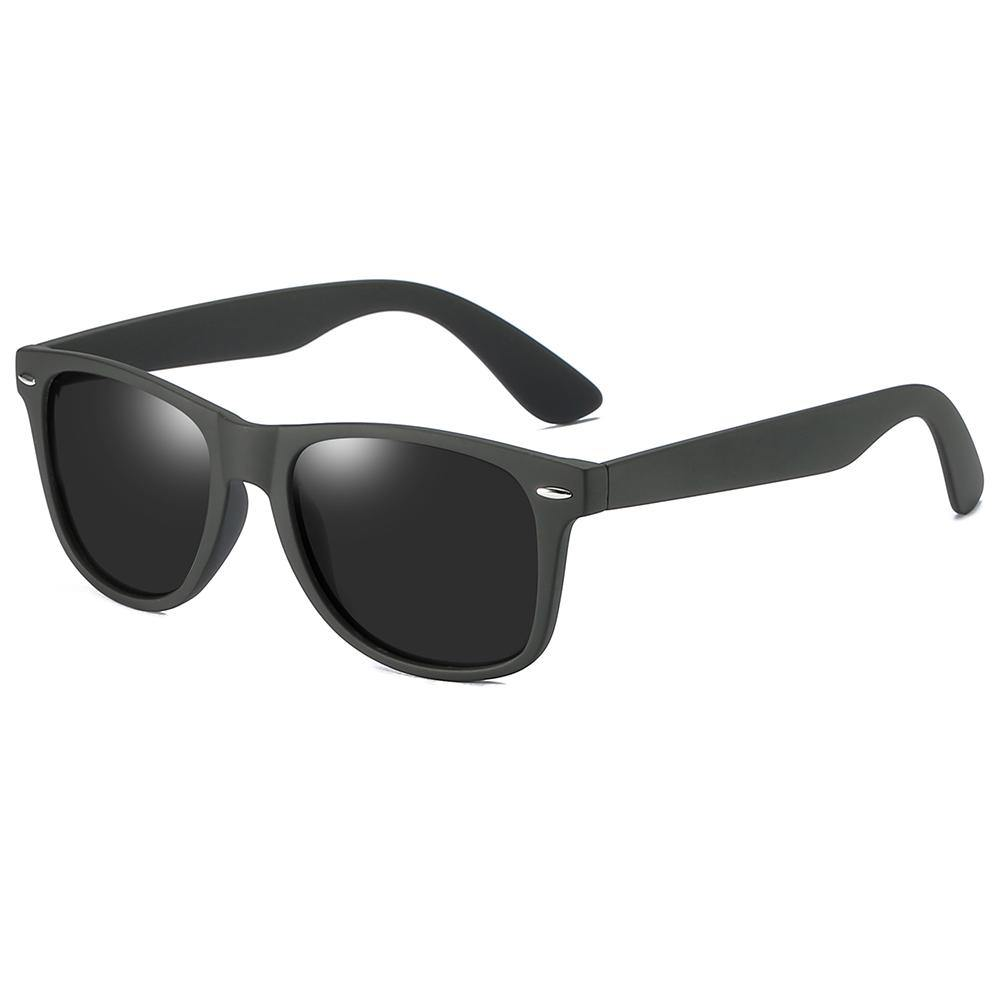 black wayfarer sunglasses with thick temple arms